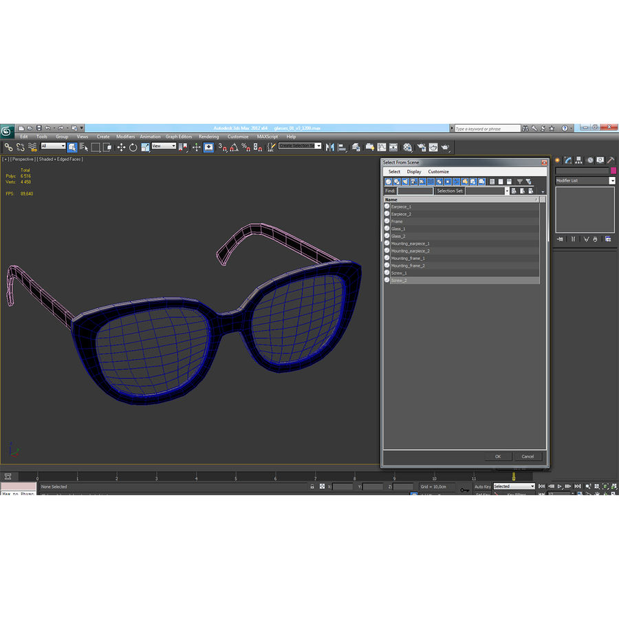 Glasses Collection royalty-free 3d model - Preview no. 61
