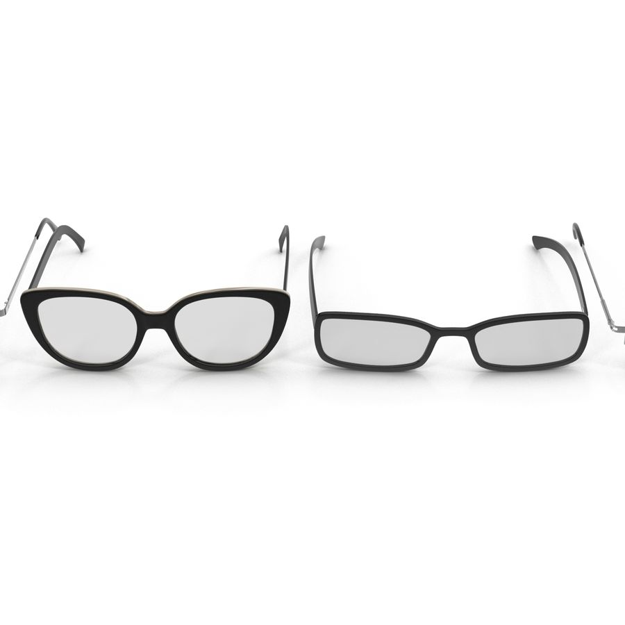 Glasses Collection royalty-free 3d model - Preview no. 6