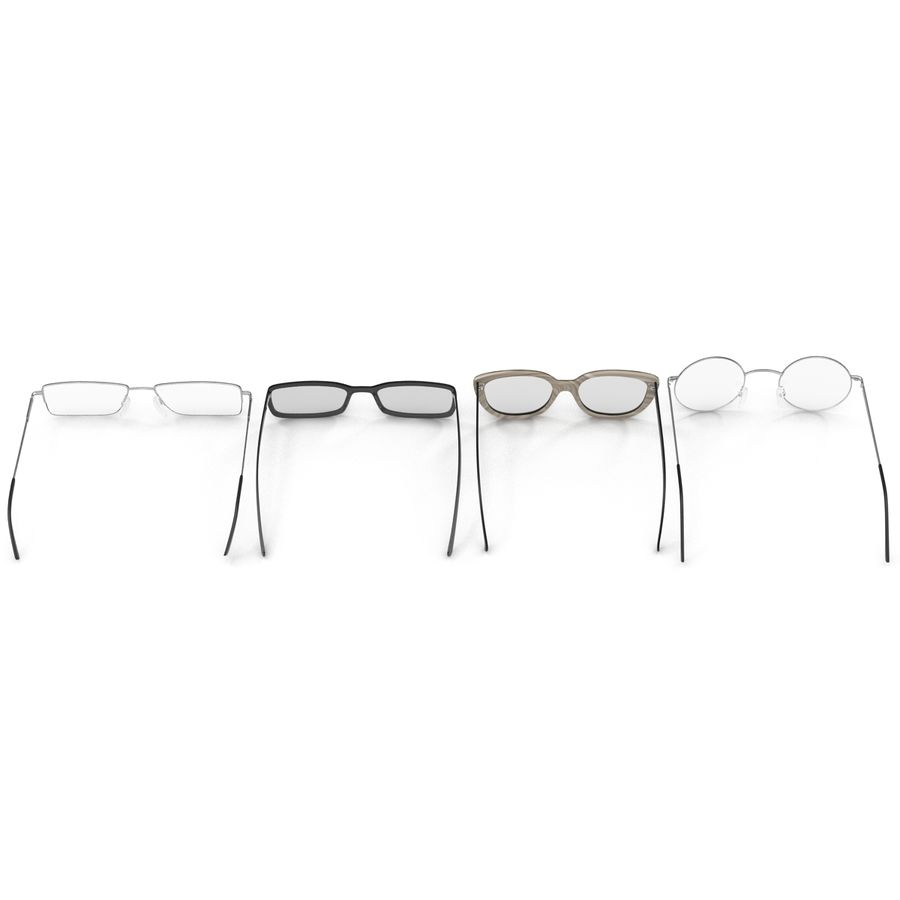 Glasses Collection royalty-free 3d model - Preview no. 3