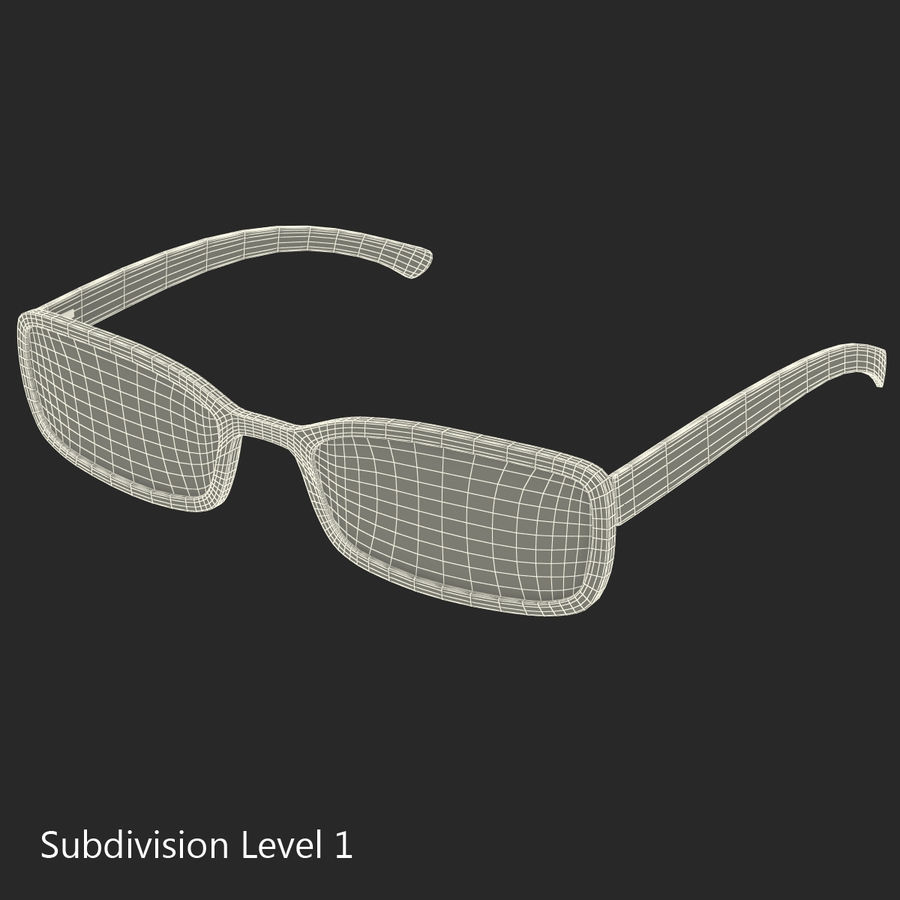Glasses Collection royalty-free 3d model - Preview no. 51