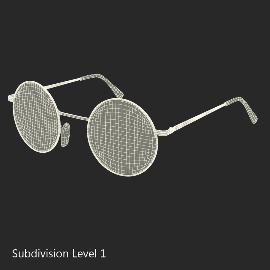 Glasses Collection royalty-free 3d model - Preview no. 49