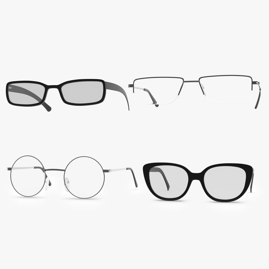Glasses Collection royalty-free 3d model - Preview no. 1