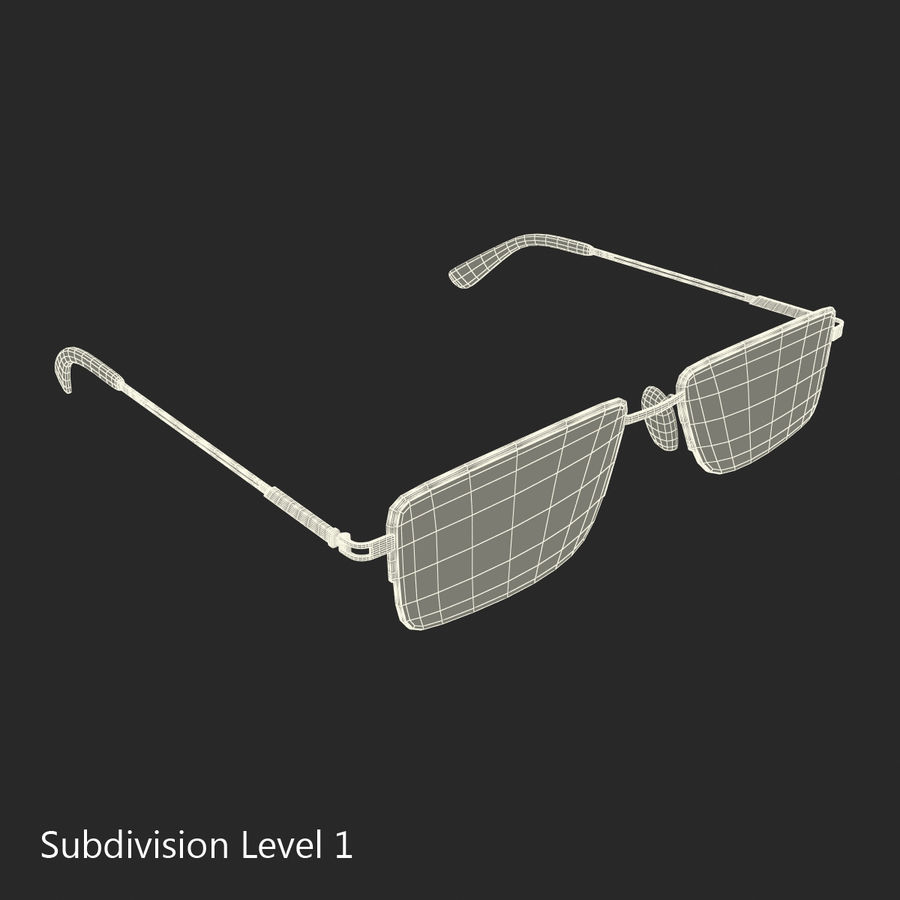 Glasses Collection royalty-free 3d model - Preview no. 53