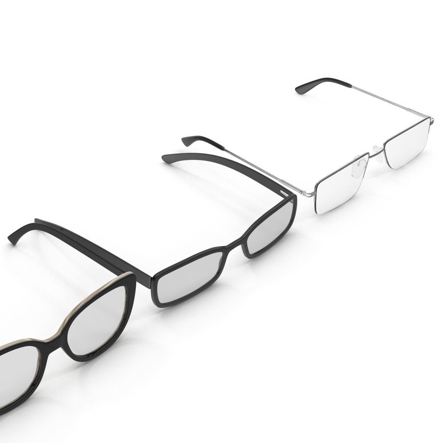 Glasses Collection royalty-free 3d model - Preview no. 5