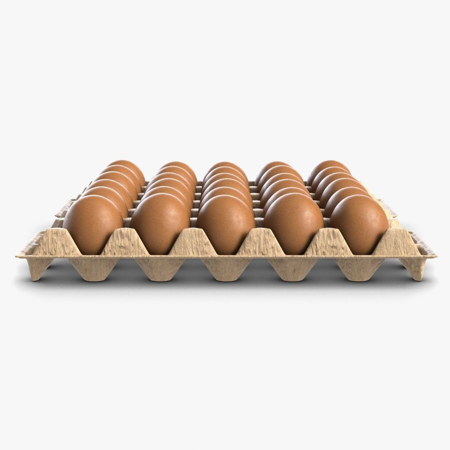 Egg Package With Eggs royalty-free 3d model - Preview no. 4