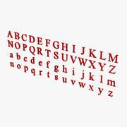 Times New Roman Letters 3d model