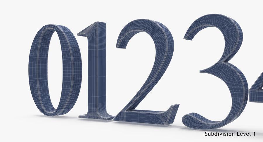 Times New Roman Numbers 3d Modell 29 Max C4d Obj Free3d