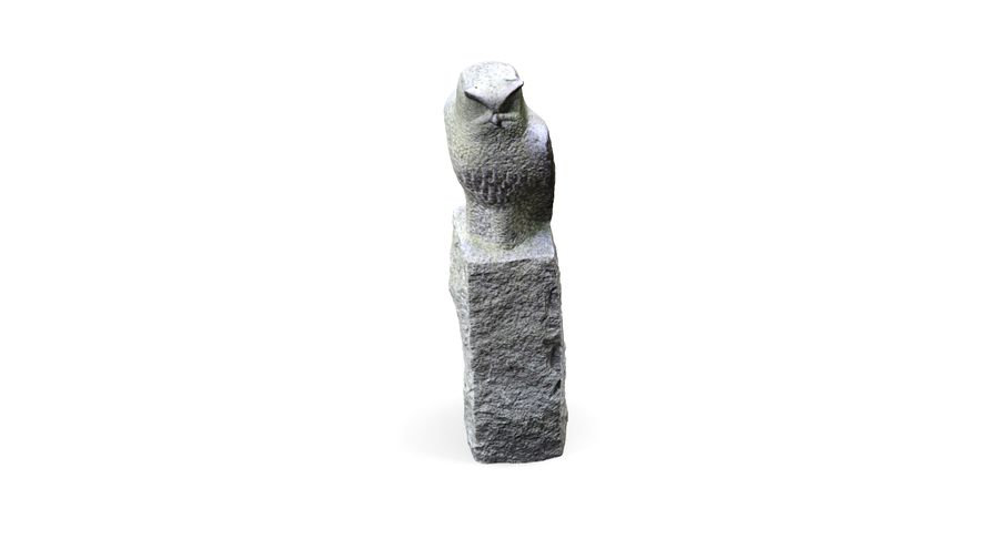 Owl Statue royalty-free 3d model - Preview no. 5