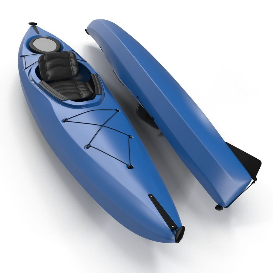Kayak modelo 3D genérico royalty-free modelo 3d - Preview no. 5
