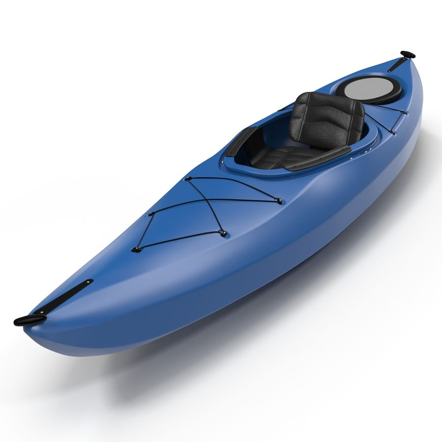 Kayak modelo 3D genérico royalty-free modelo 3d - Preview no. 3