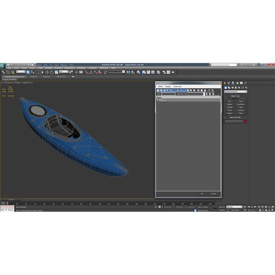 Kayak modelo 3D genérico royalty-free modelo 3d - Preview no. 16