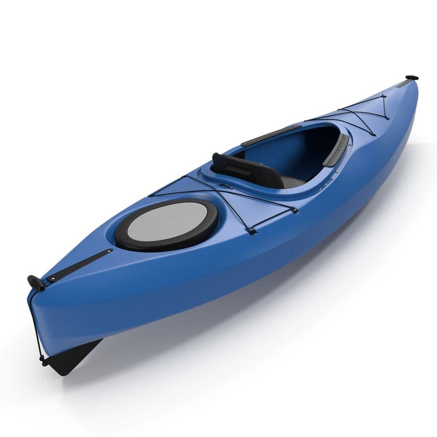 Kayak modelo 3D genérico royalty-free modelo 3d - Preview no. 9
