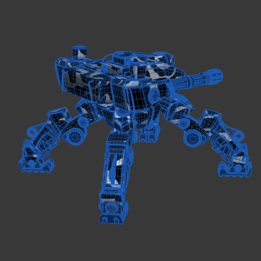 Bot royalty-free 3d model - Preview no. 8