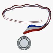 Award Medal 4 Silver 3D Model 3d model