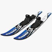 Water Skis 3d model