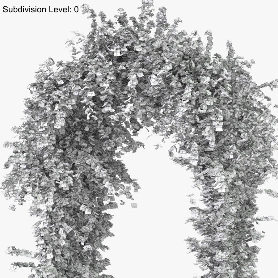 Ustaw róże pnące Bougainvillea 4 Pergole Z Kwiatami Bluszcz royalty-free 3d model - Preview no. 33