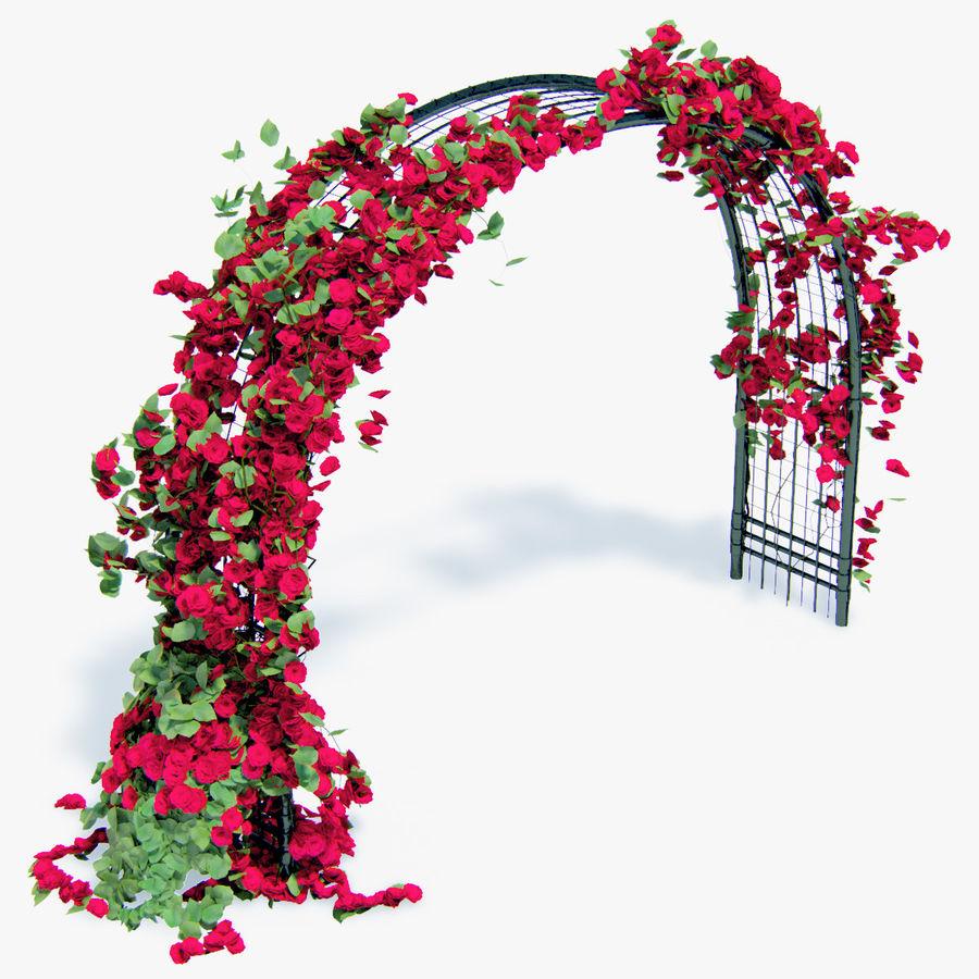 Ustaw róże pnące Bougainvillea 4 Pergole Z Kwiatami Bluszcz royalty-free 3d model - Preview no. 12