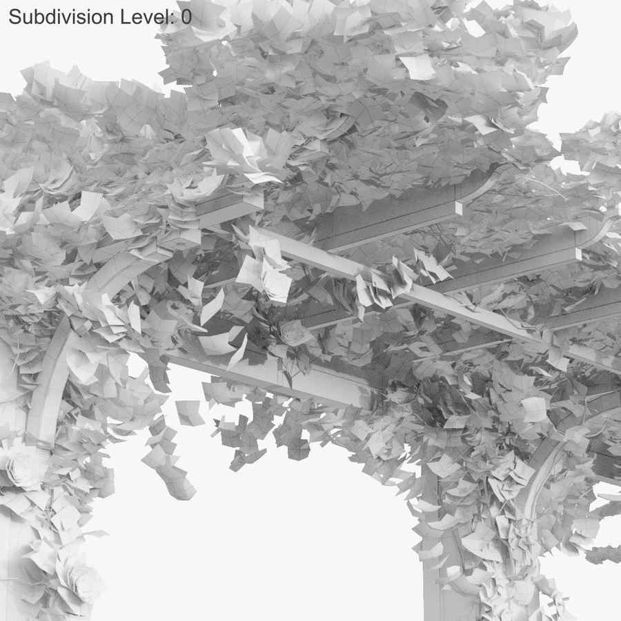 Ustaw róże pnące Bougainvillea 4 Pergole Z Kwiatami Bluszcz royalty-free 3d model - Preview no. 29