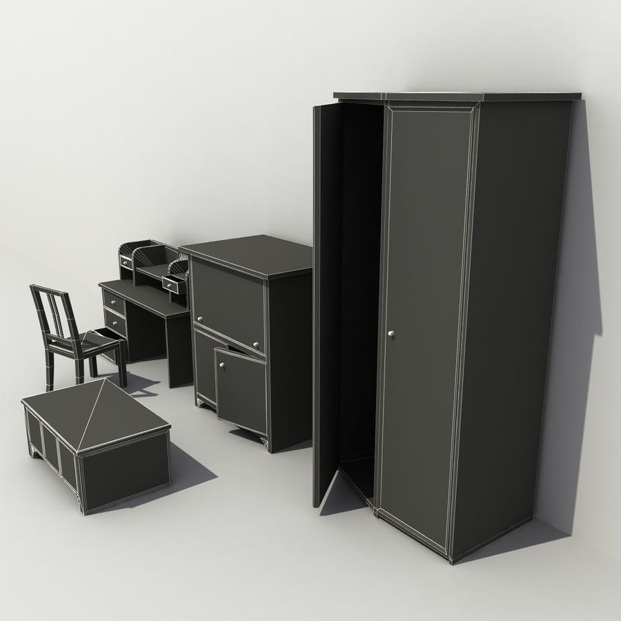 Old Furniture Collection royalty-free 3d model - Preview no. 8