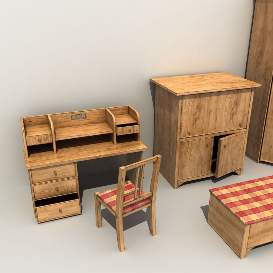 Old Furniture Collection royalty-free 3d model - Preview no. 6