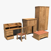 Old Furniture Collection 3d model
