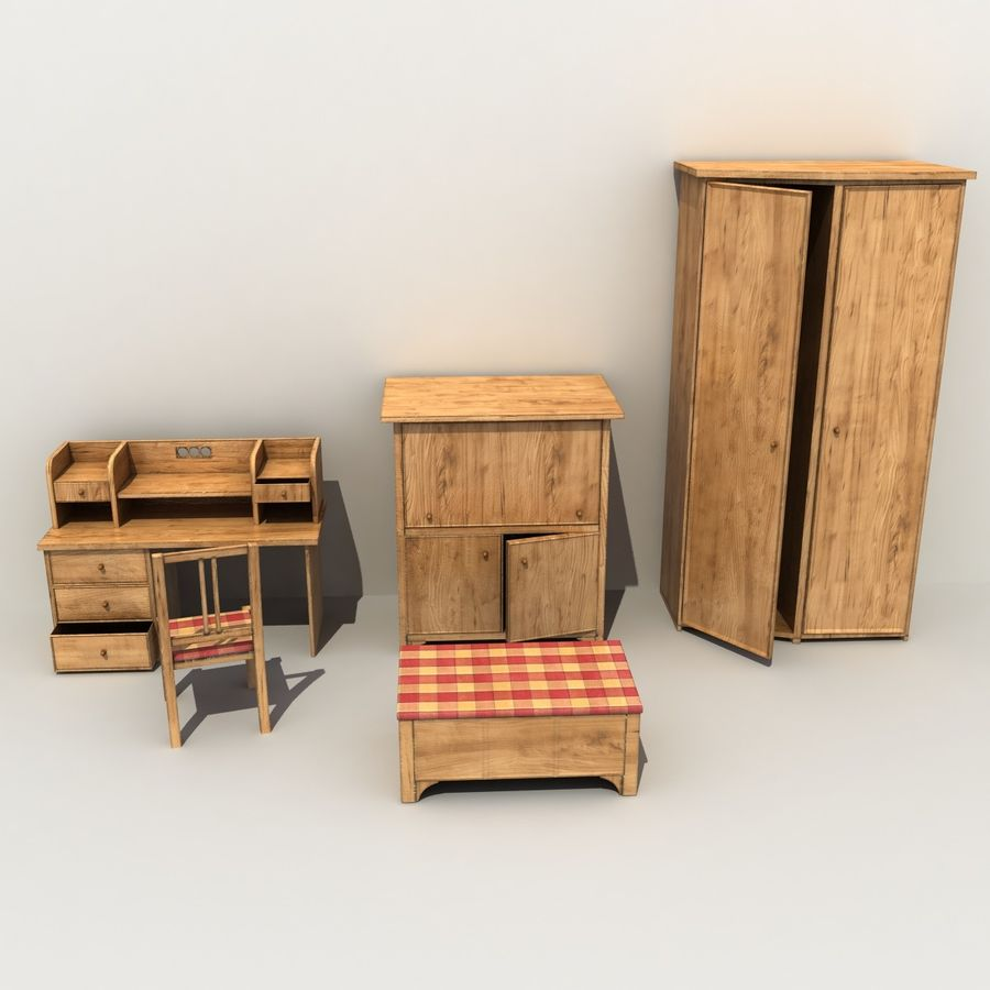 Old Furniture Collection royalty-free 3d model - Preview no. 2
