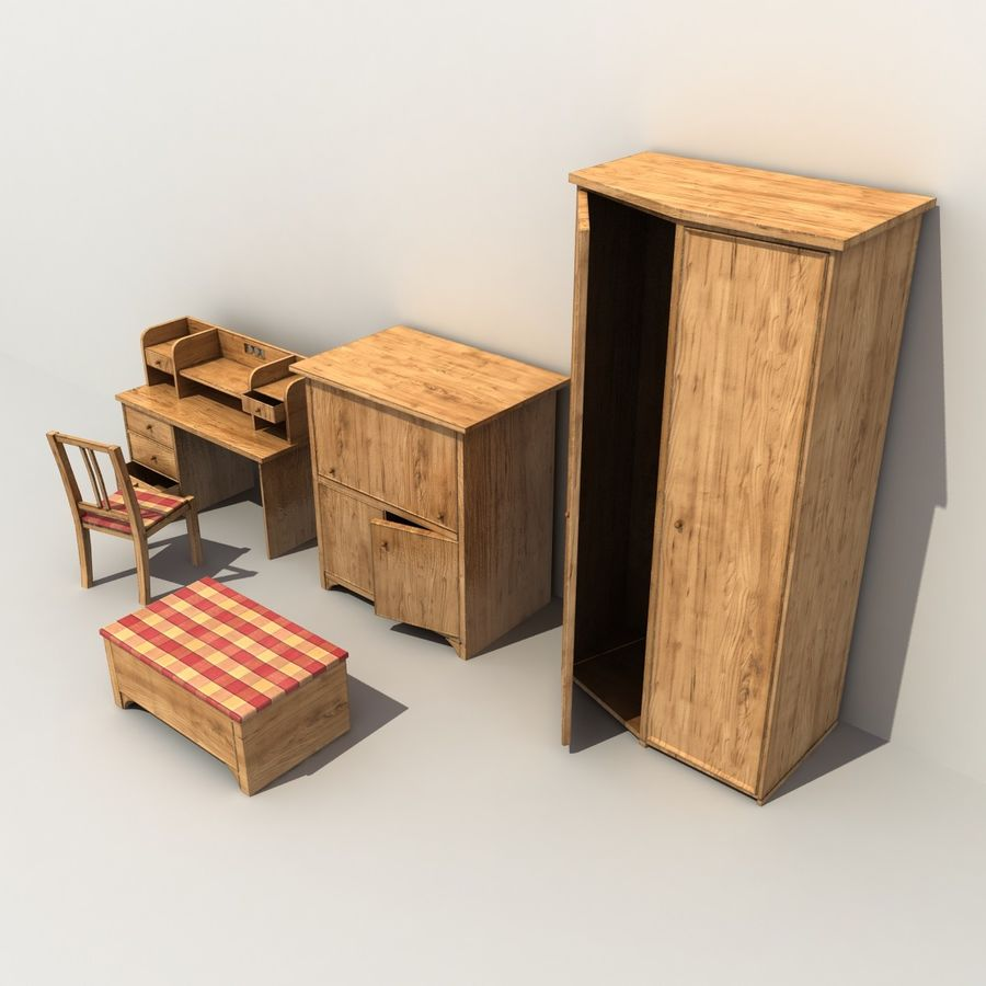 Old Furniture Collection royalty-free 3d model - Preview no. 3
