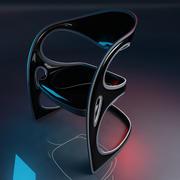 Futurystyczny fotel 3d model