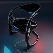未来派的椅子 3d model