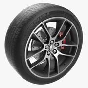 Car Wheel Modello 3D 3d model