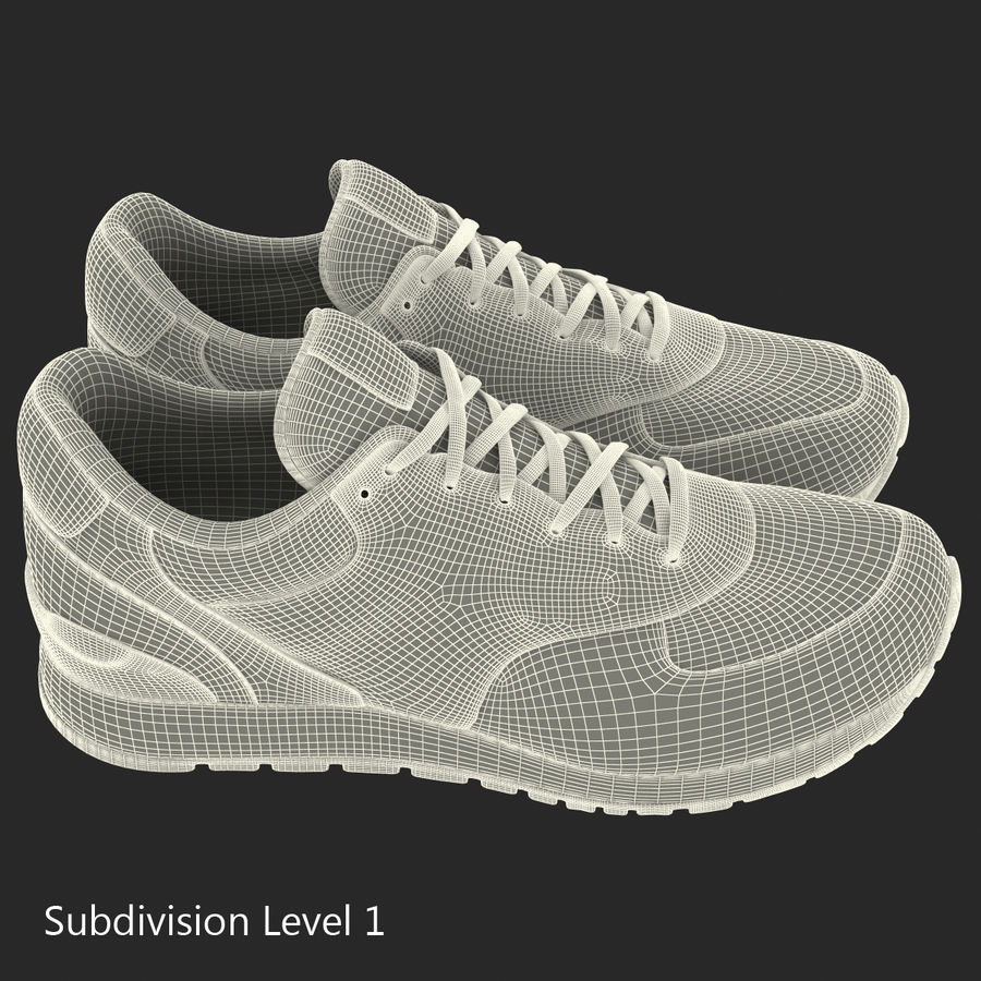 Sneakersy Nike royalty-free 3d model - Preview no. 18