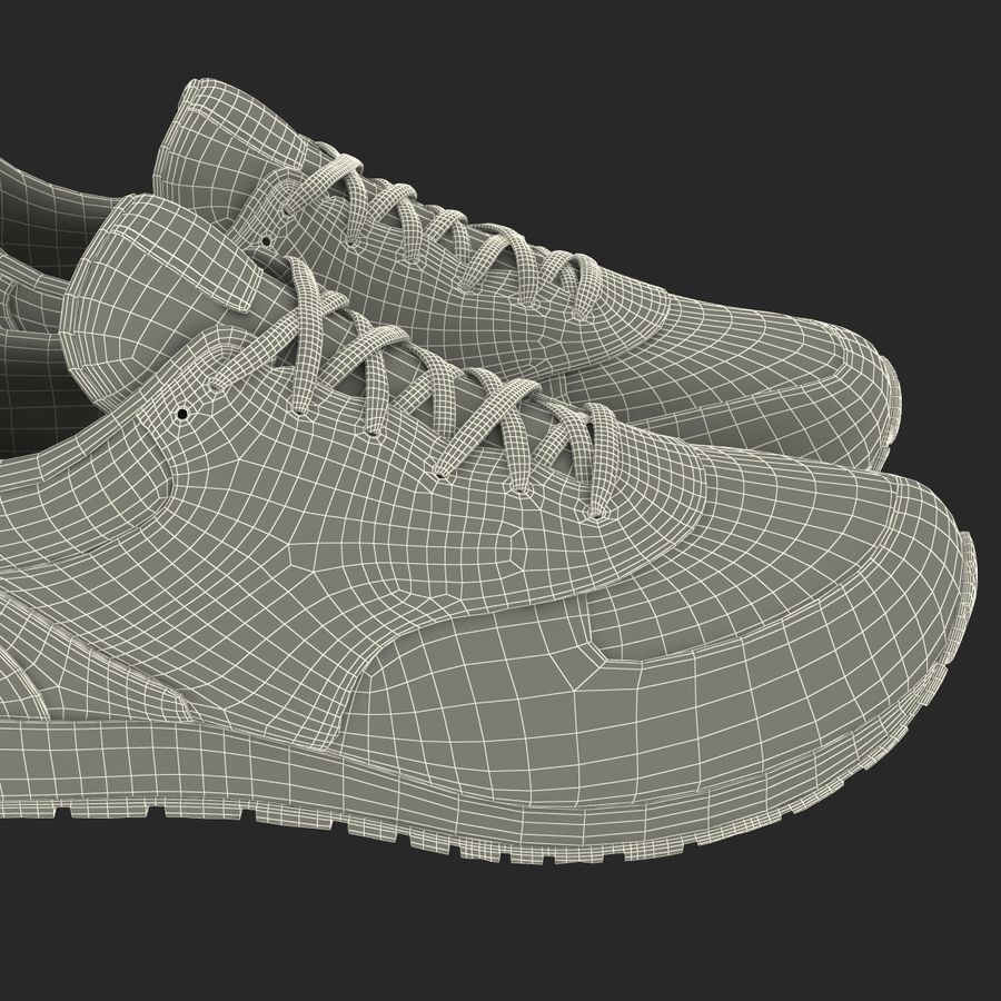 Кроссовки Nike royalty-free 3d model - Preview no. 30