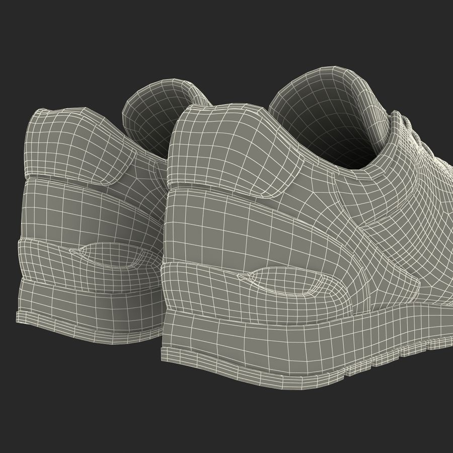 Кроссовки Nike royalty-free 3d model - Preview no. 29