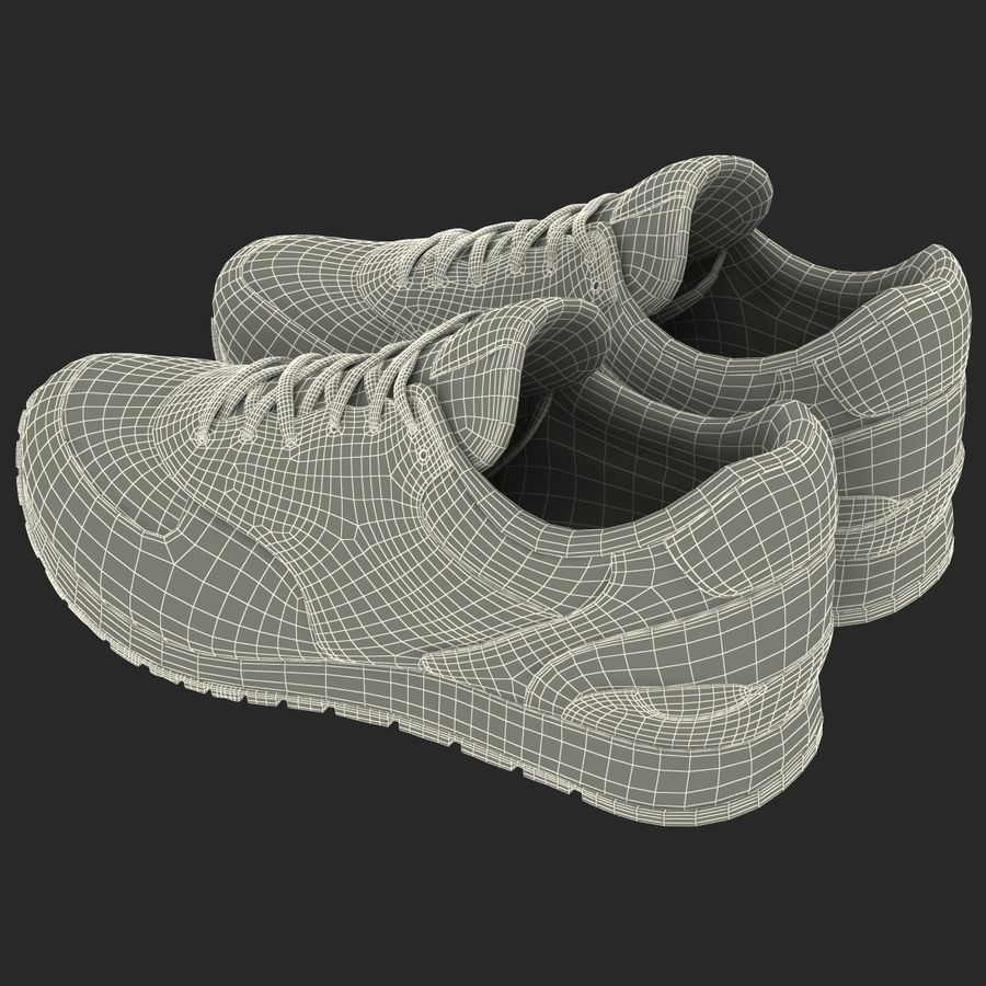 Кроссовки Nike royalty-free 3d model - Preview no. 25