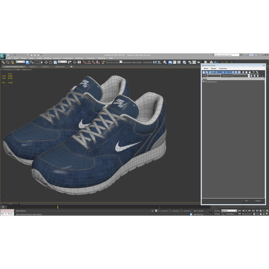 Кроссовки Nike royalty-free 3d model - Preview no. 19