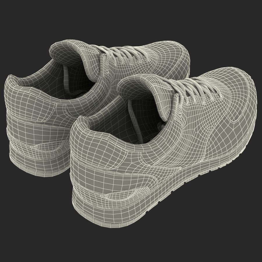 Кроссовки Nike royalty-free 3d model - Preview no. 24