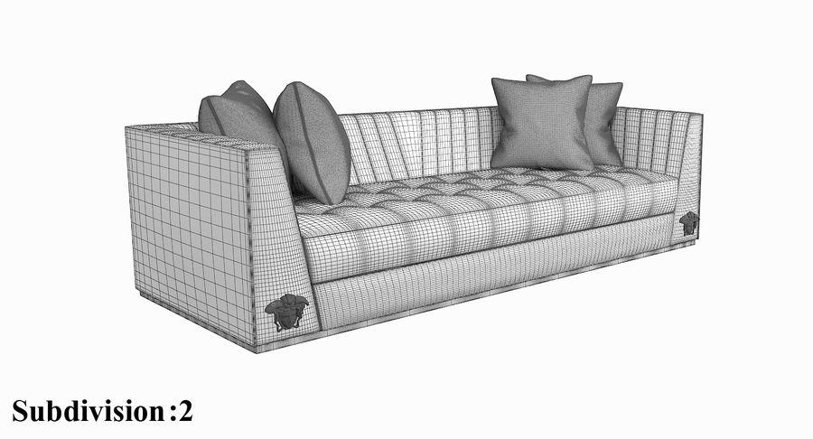 Prime Versace Via Gesu 3 Seater 3D Model 49 Max Obj Fbx Free3D Uwap Interior Chair Design Uwaporg