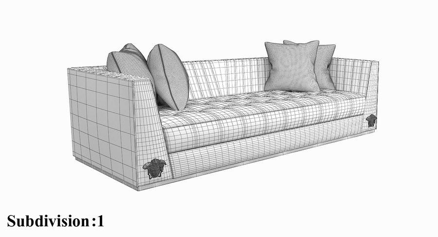 Amazing Versace Via Gesu 3 Seater 3D Model 49 Max Obj Fbx Free3D Uwap Interior Chair Design Uwaporg
