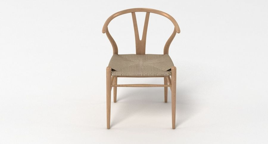 Wishbone Chair 002 royalty-free 3d model - Preview no. 5