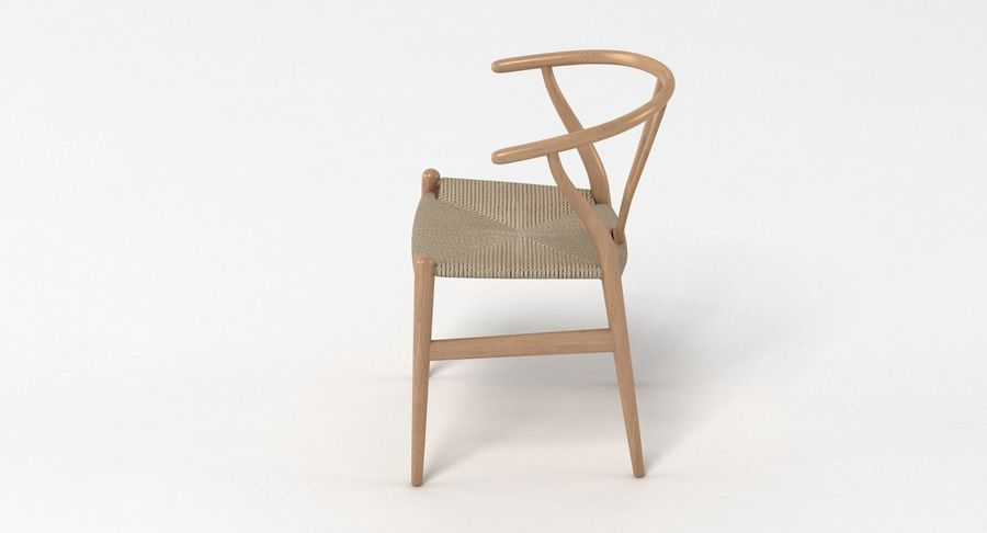 Wishbone Chair 002 royalty-free 3d model - Preview no. 7