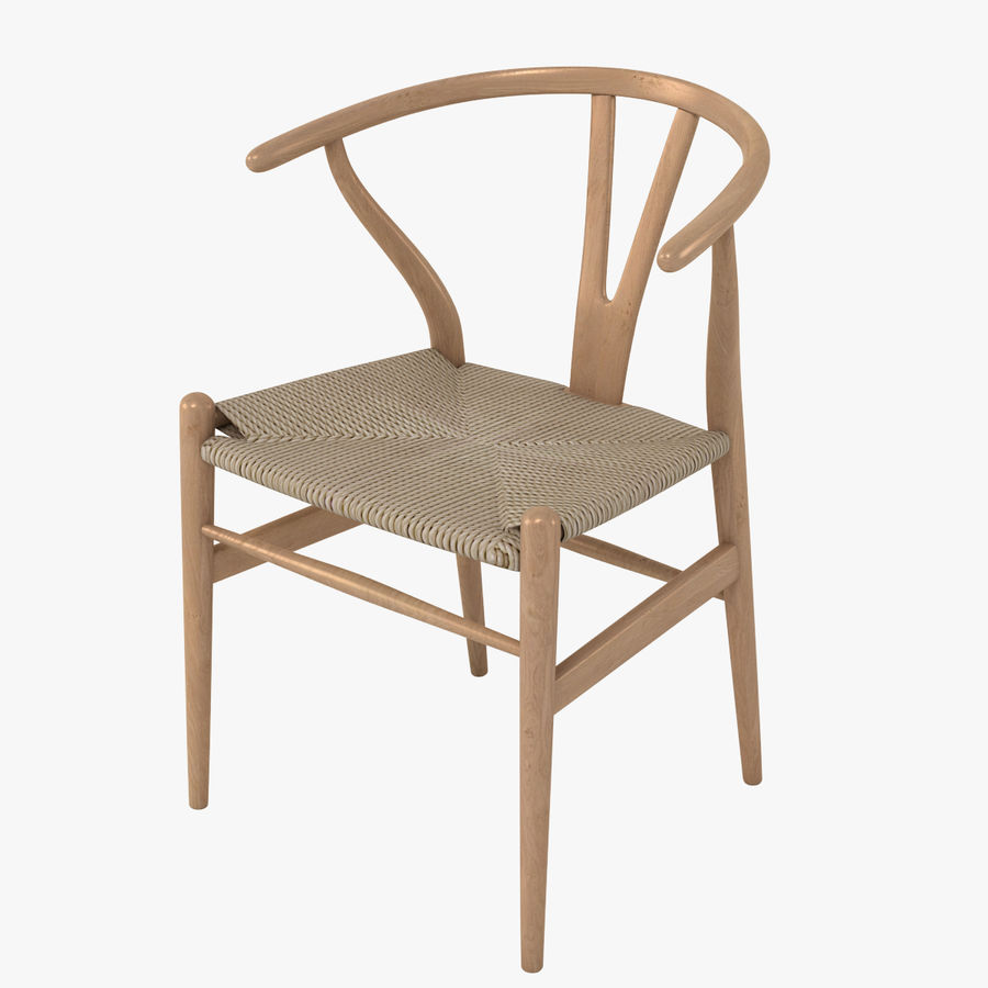 Wishbone Chair 002 royalty-free 3d model - Preview no. 1