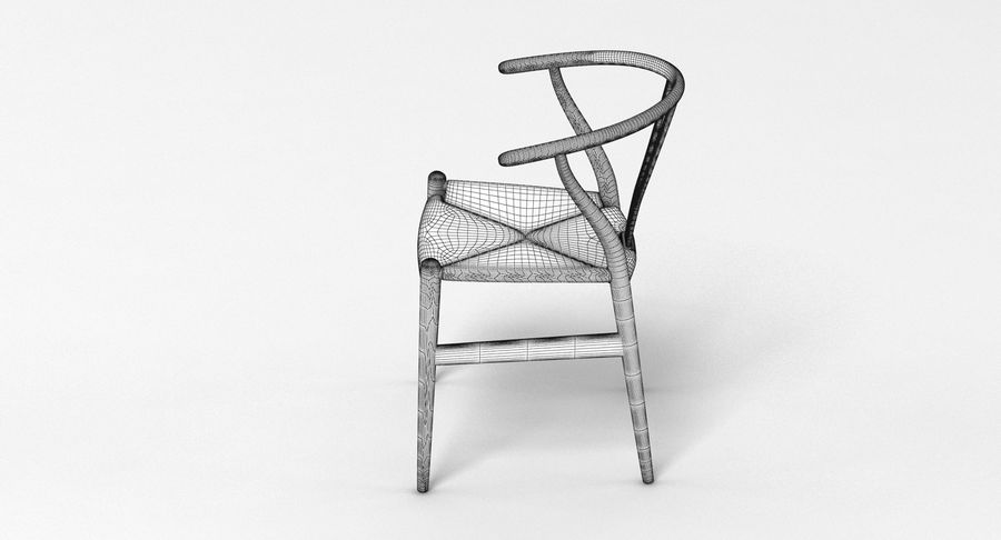 Wishbone Chair 002 royalty-free 3d model - Preview no. 8