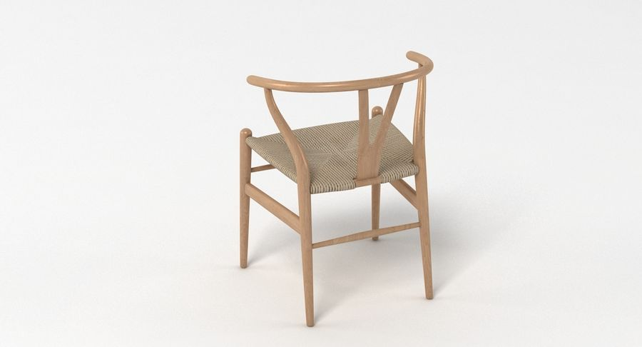 Wishbone Chair 002 royalty-free 3d model - Preview no. 9