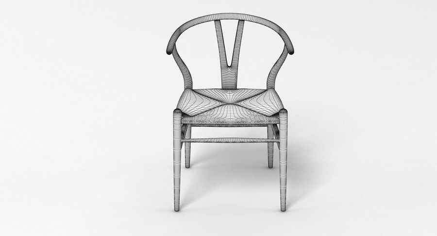 Wishbone Chair 002 royalty-free 3d model - Preview no. 6
