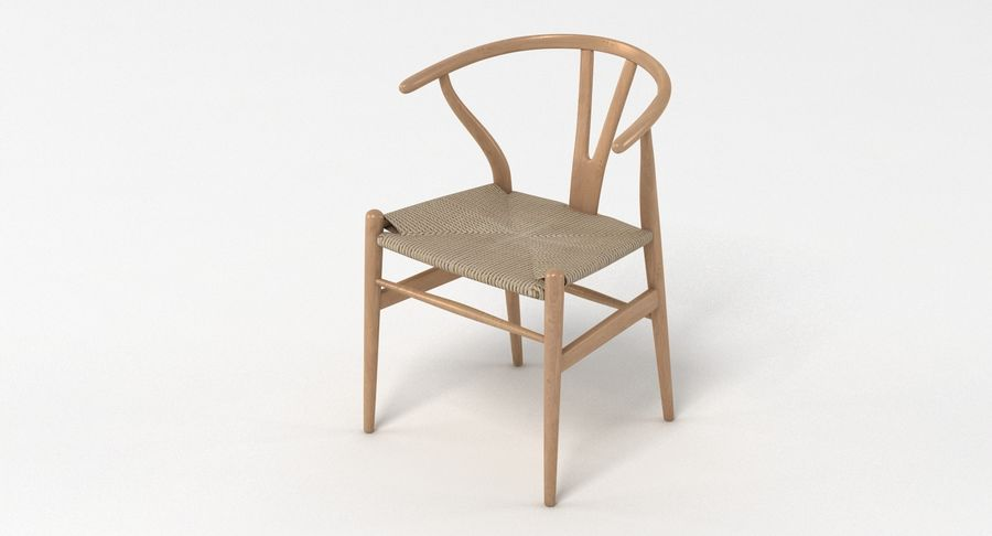 Wishbone Chair 002 royalty-free 3d model - Preview no. 3