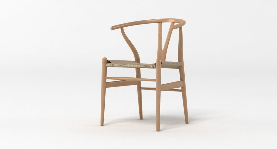 Wishbone Chair 002 royalty-free 3d model - Preview no. 10