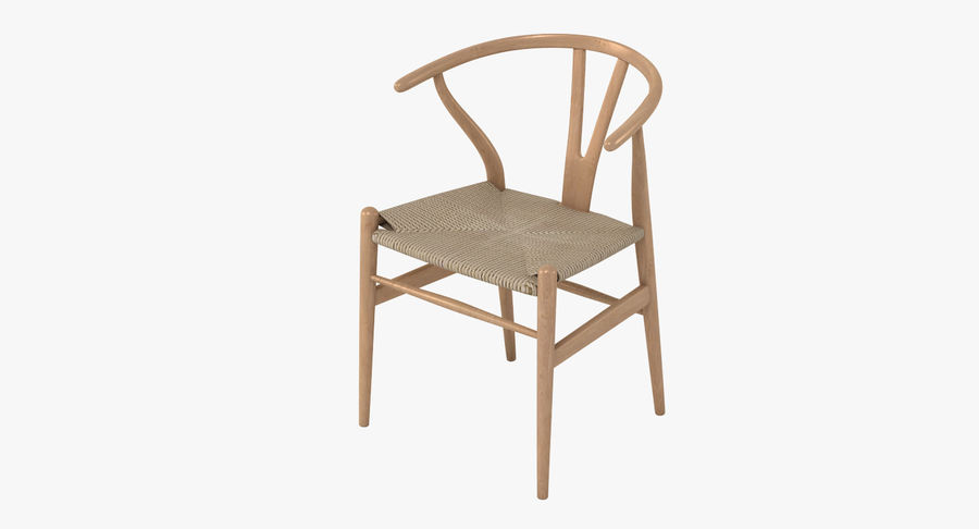 Wishbone Chair 002 royalty-free 3d model - Preview no. 2