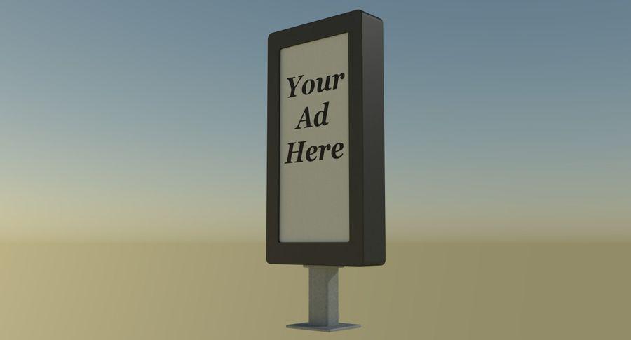 Znak reklamy ulicznej nr 1 royalty-free 3d model - Preview no. 5