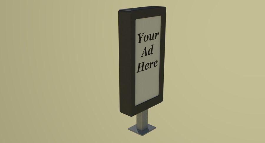 Panneau de publicité de rue un royalty-free 3d model - Preview no. 6