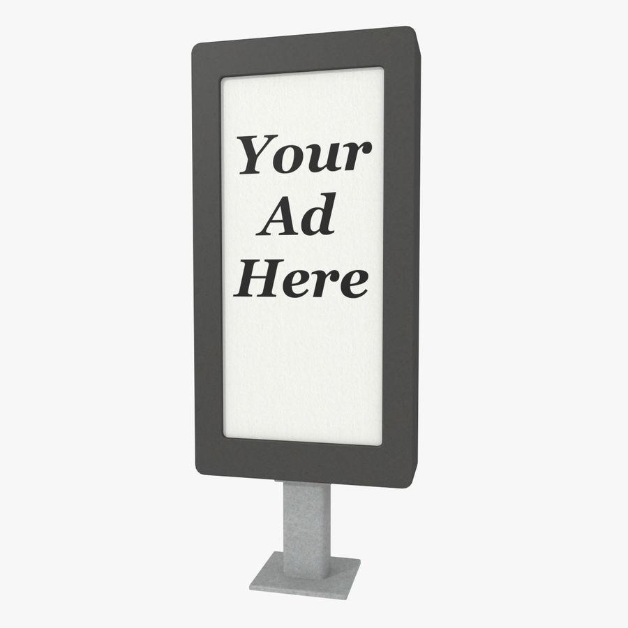 Panneau de publicité de rue un royalty-free 3d model - Preview no. 1
